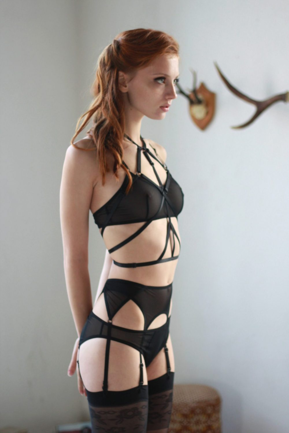 The Ruby harness in Black by Flashyouandme.com