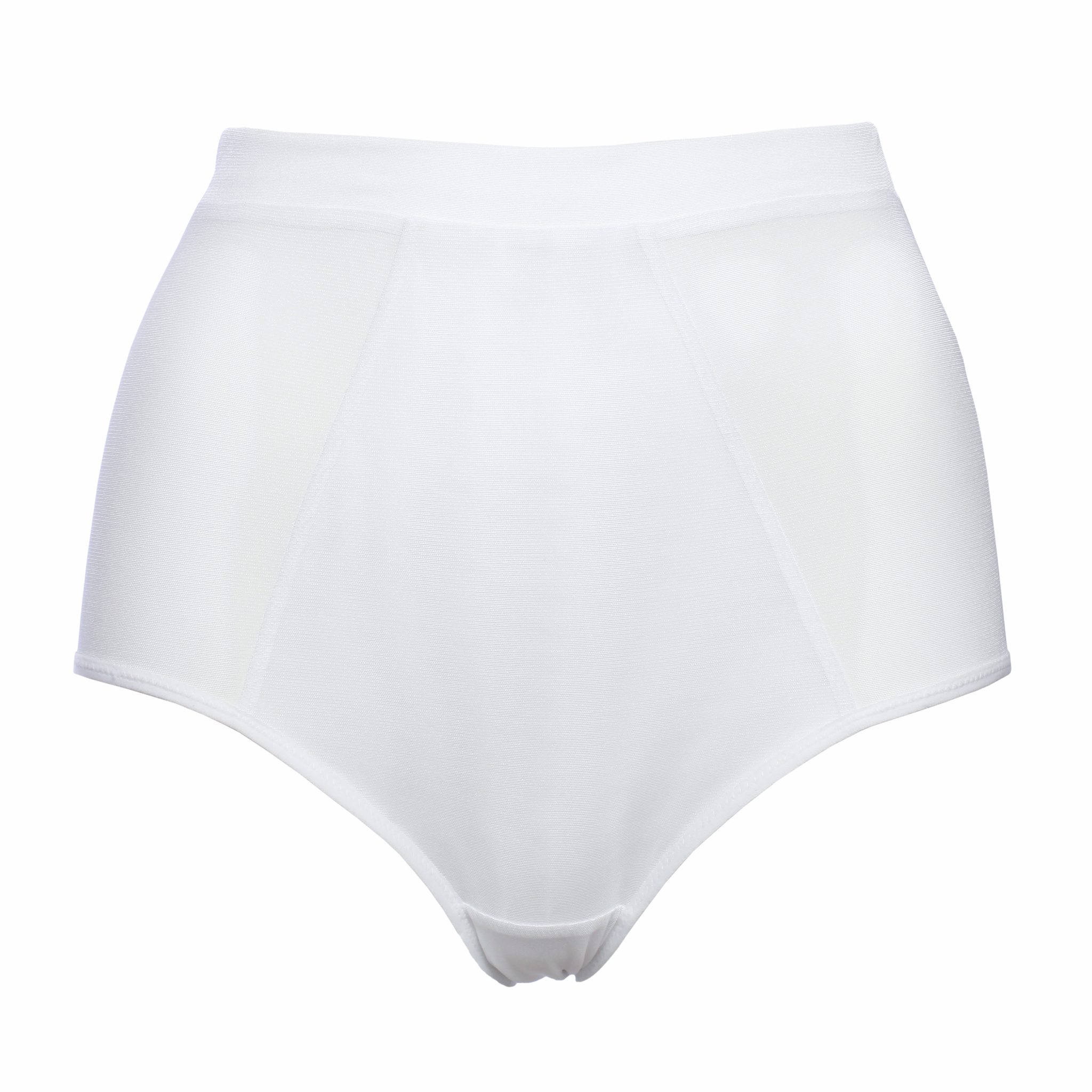 White Mesh High Waist Panties by Flashyouandme.com