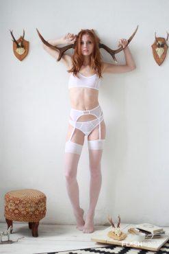 White Mesh Bralette