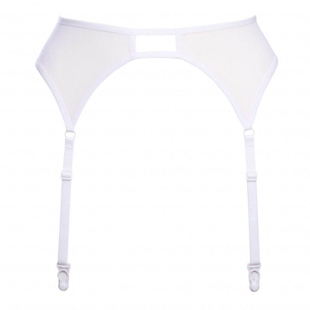 White Mesh Garter Belt