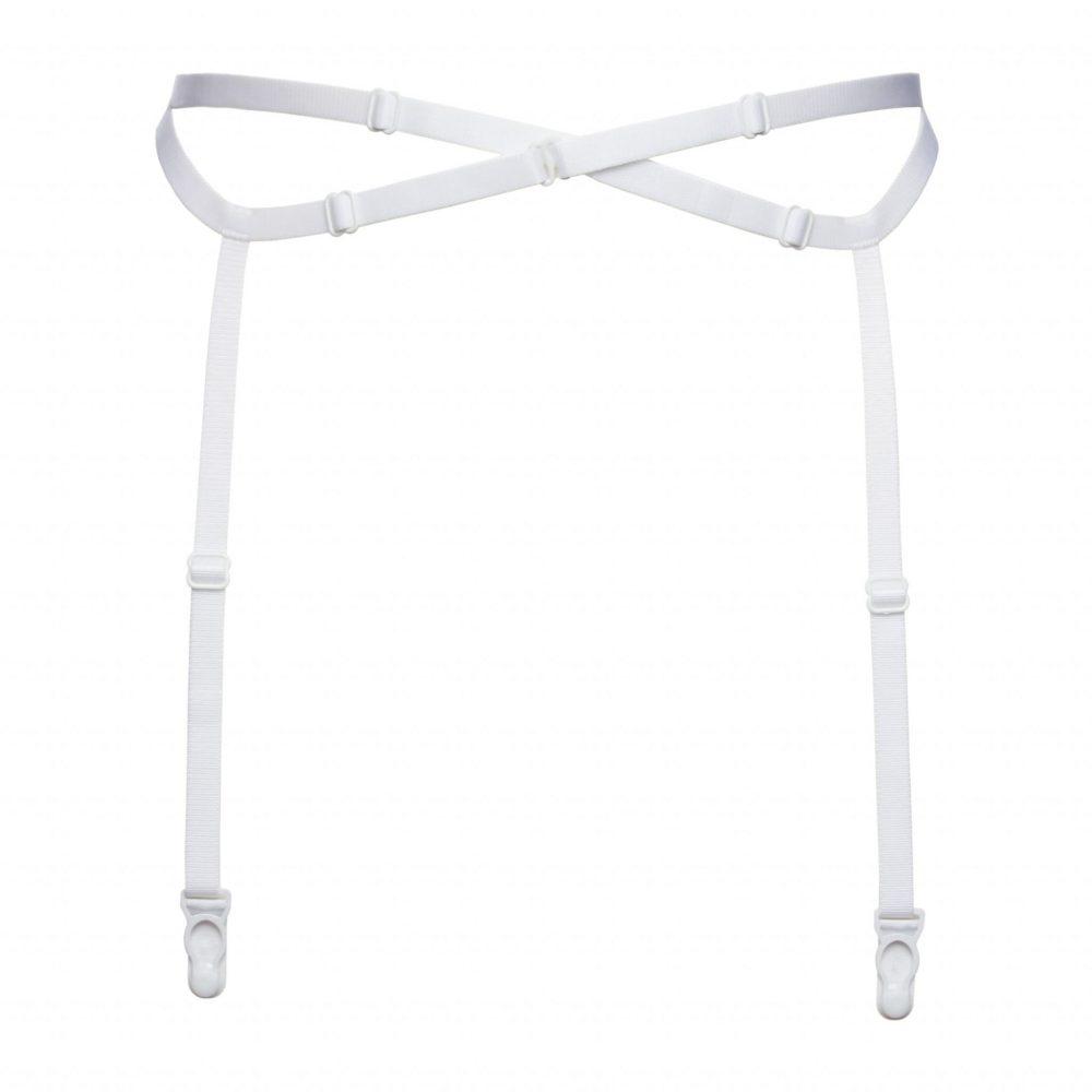 Bondage Garter Belt in White