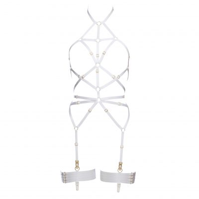 Magdalena Bondage Playsuit in White