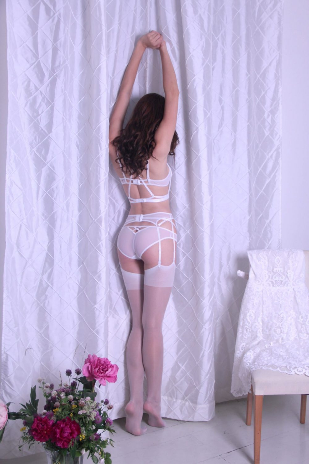 White Mesh Panties With X In The Back