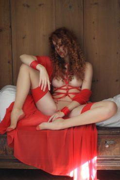 Red Chiffon Kimono