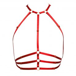 The Samantha Harness in Red with Gold