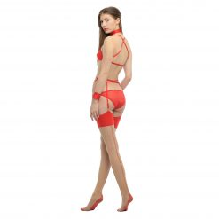 Seamed Stockings - Nude with Red Seams