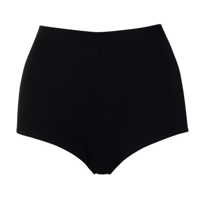 High Waist Shorts From Black Organic Jersey