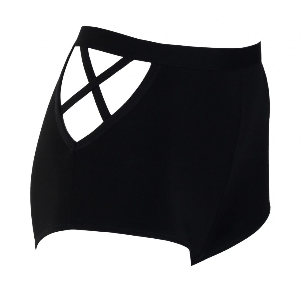 High Waist Shorts with Cut-outs on the Sides