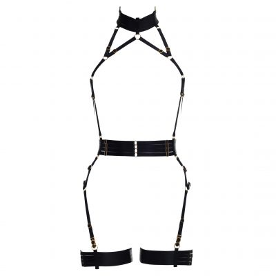 ALIVIA Bondage Playsuit in Black