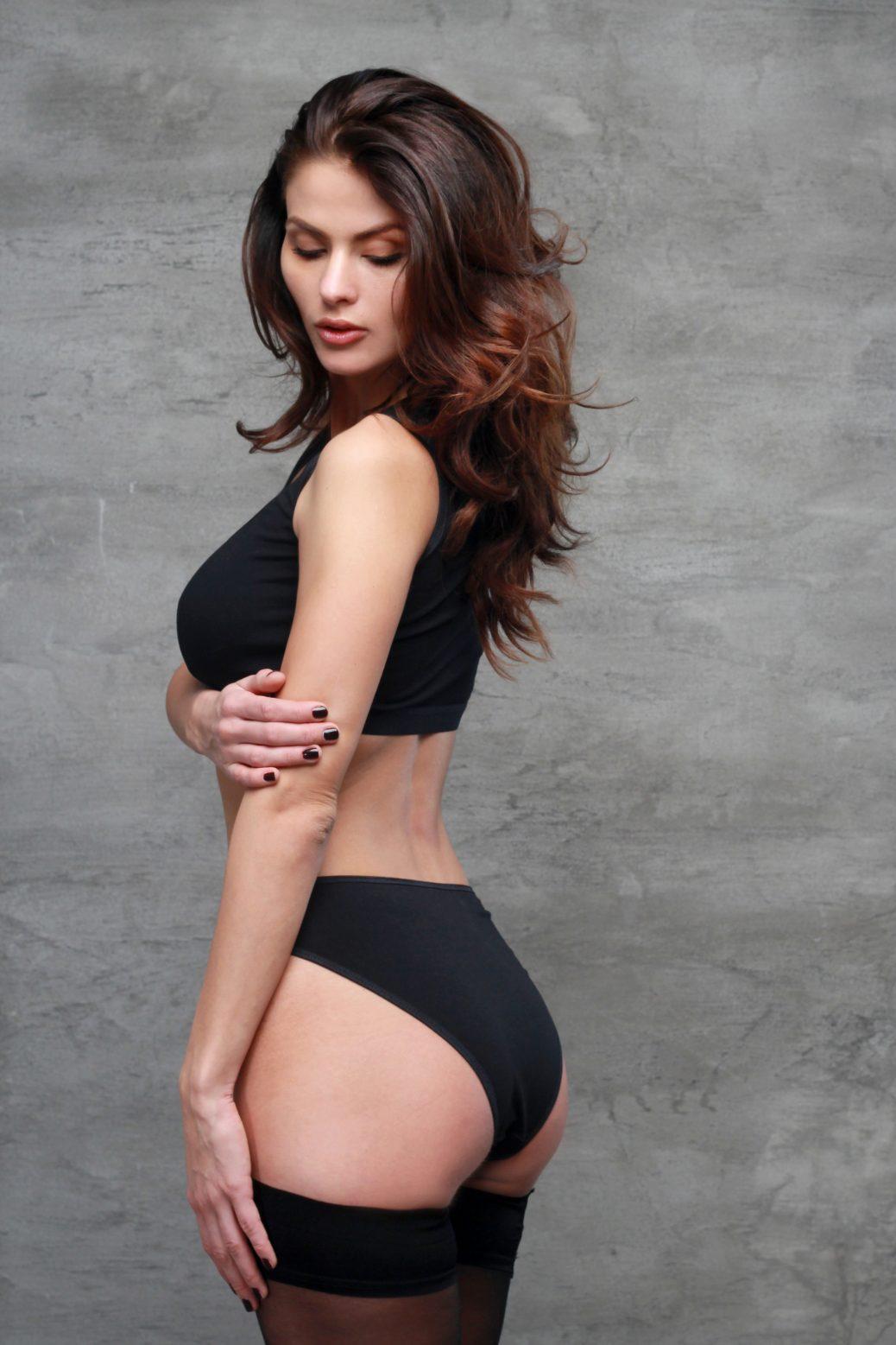 High Cut Panties From Black Organic Jersey